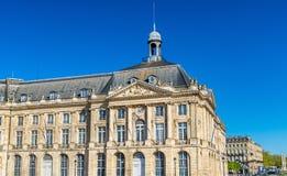 Palais de Λα Bourse στο Μπορντώ, Γαλλία Στοκ φωτογραφία με δικαίωμα ελεύθερης χρήσης