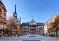 Palais de Правосудие (дворец правосудия), Париж Стоковые Изображения