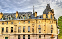Palais de Правосудие в Париже, Франции Стоковое Изображение RF