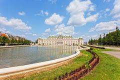 Palais de belvédère à Vienne photo stock
