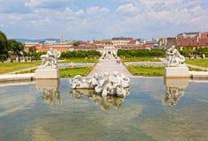 Palais de belvédère à Vienne image stock
