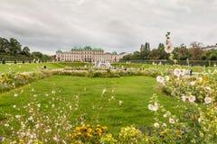 Palais de belvédère à Vienne Autriche photographie stock
