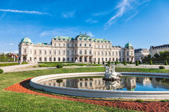 Palais de belvédère à Vienne, Autriche photographie stock