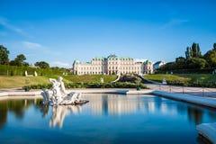 Palais de belvédère à Vienne, Autriche photos libres de droits