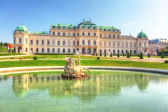 Palais de belvédère à Vienne - en Autriche photo stock