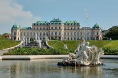 Palais de belvédère à Vienne photographie stock libre de droits