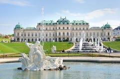 Palais de belvédère et fontaines, Vienne photos libres de droits