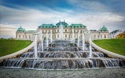 Palais de belvédère et fontaines, Vienne, Autriche photo libre de droits