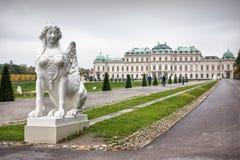 Palais de belvédère, Vienne image libre de droits