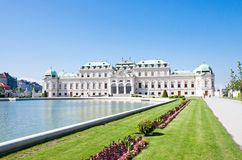 Palais de belvédère, Wien, Autriche images libres de droits