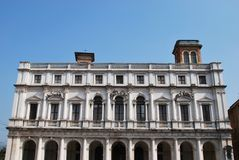 Palais de bibliothèque, Bergame Photos libres de droits
