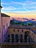 Palais de Buonaccorsi et collines, paysage dans Macerata, Marche, Italie image libre de droits