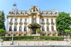 Palais de Cantacuzino (George Enescu Museum) à Bucarest photos stock