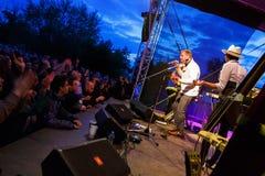 Palais de caravane chez Fest libre Troja 2012 Image libre de droits