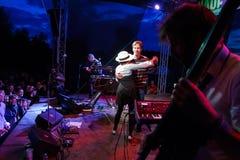 Palais de caravane chez Fest libre Troja 2012 Photo libre de droits