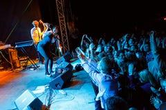Palais de caravane chez Fest libre Troja 2012 Photographie stock