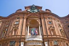 Palais de Carignano, Turin photographie stock libre de droits