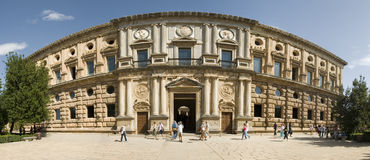 Palais de Carlos V Photographie stock libre de droits