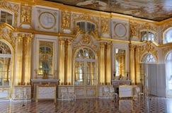 Palais de Catherine, Hall d'or photographie stock libre de droits