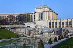 Palais de Chaillot. Παρίσι, Γαλλία. Στοκ φωτογραφία με δικαίωμα ελεύθερης χρήσης