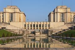 Palais de Chaillot. Παρίσι, Γαλλία. Στοκ Φωτογραφία