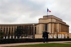 Palais de Chaillot в Париже француза Стоковые Фото