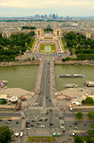 Palais de Chaillot and Jardins du Trocadero Royalty Free Stock Photo