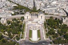 Palais de Chaillot in Paris France Royalty Free Stock Photos