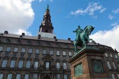 Palais de Christiansborg à Copenhague Image stock