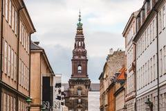 Palais de Christiansborg à Copenhague Photo libre de droits