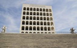 Palais de civilisation italienne dans l'EUR, Rome Image libre de droits