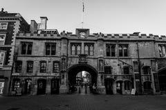 Palais de corporations Lincoln dans le ton noir et blanc Photo libre de droits