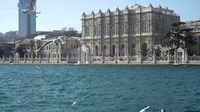 Palais de Dolmabahce, le centre administratif principal de l'empire d'Ottoman, Istanbul, Turquie banque de vidéos