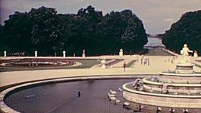 Palais de fontaine de Versailles banque de vidéos