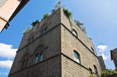 Palais de Gatti. Viterbe. Le Latium. L'Italie. Image stock