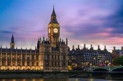 Palais de grand Ben et de Westminster, Londres Image stock