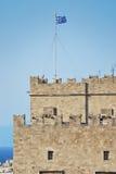 Palais de Grandmasters de borne limite de Rhodes Photo stock