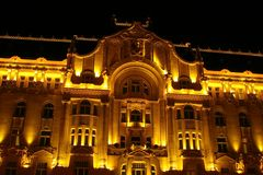 Palais de Gresham, Budapest Photographie stock libre de droits