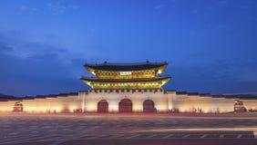 """Palais de Gyeongbokgung, avant de porte de Gwanghuamun à Séoul du centre, Corée du Sud Nom du palais """"Gyeongbokgung images libres de droits"""