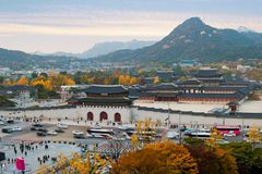 Palais de Gyeongbokgung en automne à Séoul, Corée du Sud Photo libre de droits