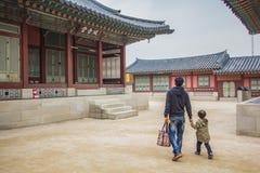Palais de Gyeongbokgung en Corée du Sud images stock