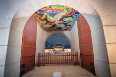 Palais de Gyeongbokgung la nuit photos libres de droits