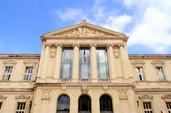 Palais de Justice, Νίκαια, Γαλλία Στοκ φωτογραφία με δικαίωμα ελεύθερης χρήσης