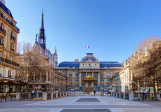 Palais de Justice (παλάτι της δικαιοσύνης), Παρίσι Στοκ Εικόνες
