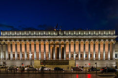Palais de justice τη νύχτα, Λυών, Γαλλία Στοκ Φωτογραφίες