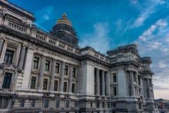 Palais de Justice (正义宫殿)在布鲁塞尔,比利时, 免版税图库摄影