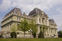Palais de Justice. Switzerland - View of the courthouse in Lausanne Royalty Free Stock Photography