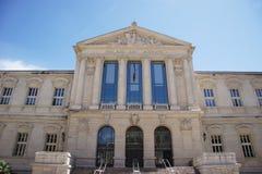 Palais de Justice. Nice, France stock images
