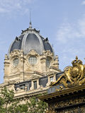 Palais de Justice and Conciergerie. The Palais de Justice, located in the Ille de la Cite in central Paris, France, is built on the site of the former royal Stock Photography