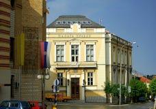 Palais de justice dans la ville de Vranje dans les sud de la Serbie image libre de droits